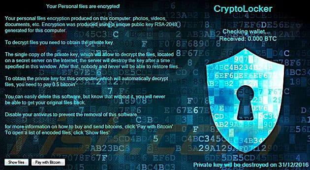 Latest Cryptolocker Virus